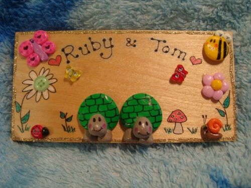2 Character 3d Tortoises Plaque Sign Wooden For Bedroom, Vivarium Tortoise Table Handmade OOAK